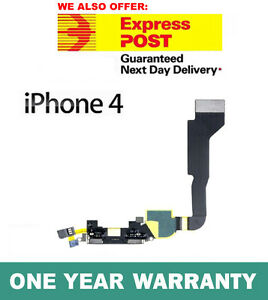 iPhone 4 4G Charging Dock Connector Flex Ribbon Cable Black Genuine Replacement