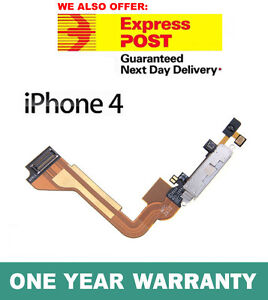 iPhone 4 4G Charging Dock Connector Flex Ribbon Cable White Genuine Replacement