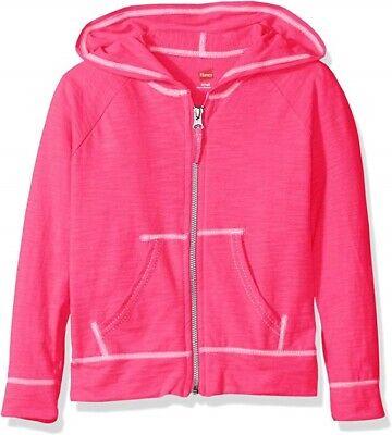 NWT Hanes Light Weight Slub Clotton Zip Up Hoddie Jacket XL  White