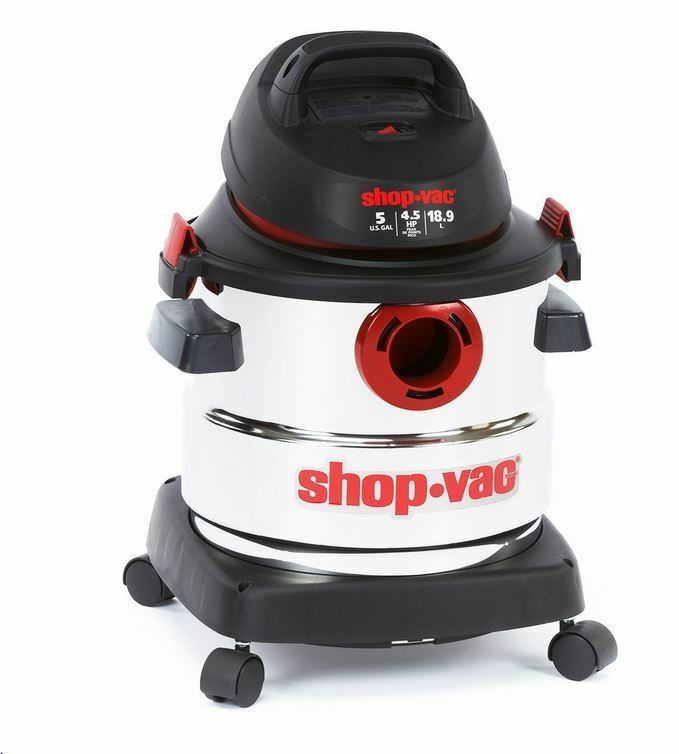 Shop-vac - 5 Gallon Stainless Steel Wet/dry Vacuum Cleaner -