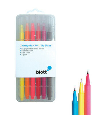 "12 Fineliner Felt Tip Colouring Pens Washable Ink. By Blott ""Stationery Heaven"""