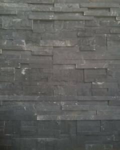 STACK STONE CLADDING BLACK SLATE 350 x 180 x 12-16mm Panels Doveton Casey Area Preview