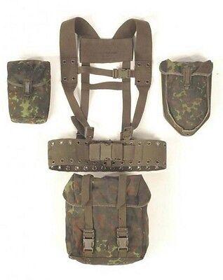 BUNDESWEHR KOPPELTRAGESYSTEM flecktarn Koppeltragegestell 3 Taschen Tactical Set