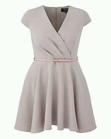 NEW Closet curves belted dress
