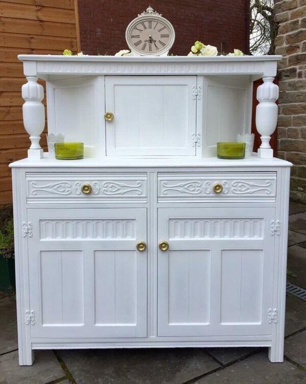 White Sideboard Shabby Chic Dresser French Dresser Welsh Dresser Vint