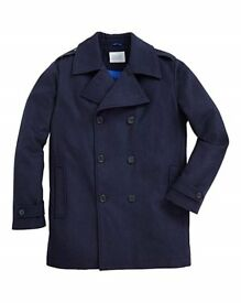 Men's wool mix Pea Coat BNWT sized as large 44/46