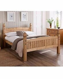 New return wax pine double bed reduced to 75.00