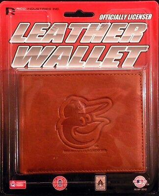 Baltimore Orioles MLB Embossed Leather Billfold Wallet