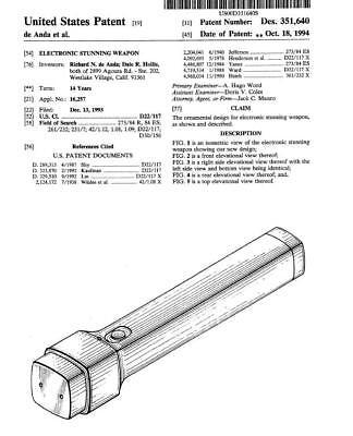 New! 196 Stun Gun & Taser(TM) Patents on CD-ROM! (NOT A STUN GUN!!!!!)