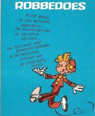 Franquin: Spirou (Robbedoes) Carte publicitaire en néerlandais.
