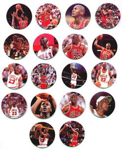 MICHAEL JORDAN ~ Lot of (18) Different Upper Deck Mini Disc Pogs Milk Caps