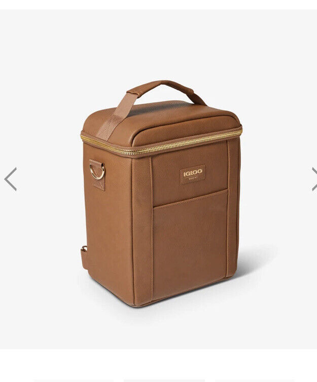 Igloo Luxe™ Mini Convertible Backpack Cooler New!!  Vegan Leather