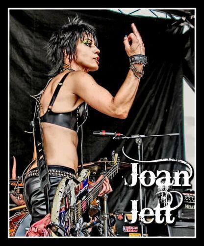 "4.5"" Joan Jett & the Blackhearts vinyl sticker. Live punk rock decal for laptop."