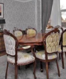 Dinning set with table and 6 chairs