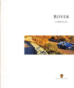 1996-1997-Rover-Cabriolet-Sales-Brochure-Catalog-UK