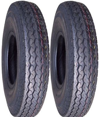 2 (TWO) 530-12 5.30-12 53012 6 PR LRC Trailer Service Hiway Speed Tubeless Tires
