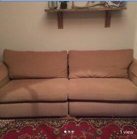 Cream 4 Seater sofa