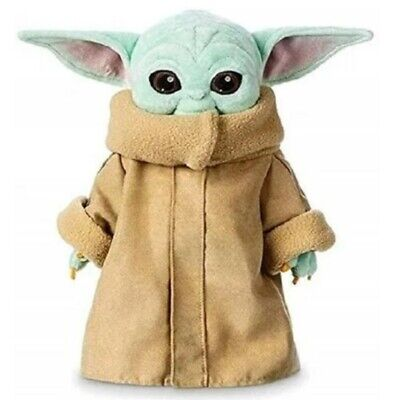 "Star Wars Mandalorian Baby Yoda 10"" Plush Toy/Stuffed Animal w/Removable Jacket"