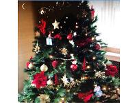 Pre-lit 7ft rocky ridge christmas tree £20 ovno