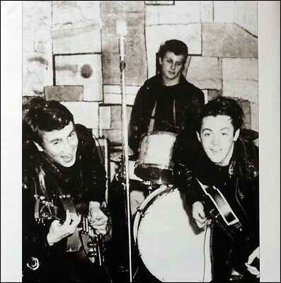 THE BEATLES POSTER . 1961 CAVERN JOHN LENNON PAUL MCCARTNEY PETE BEST .