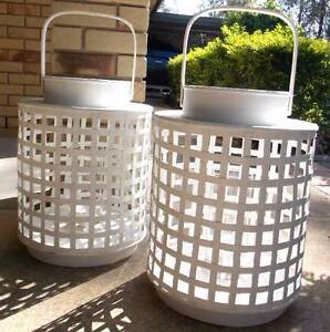 2 x NEW - VERY BIG 70cm high Shabby Chic Lanterns Brightview Somerset Area Preview