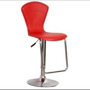 red bar stools 3 in total