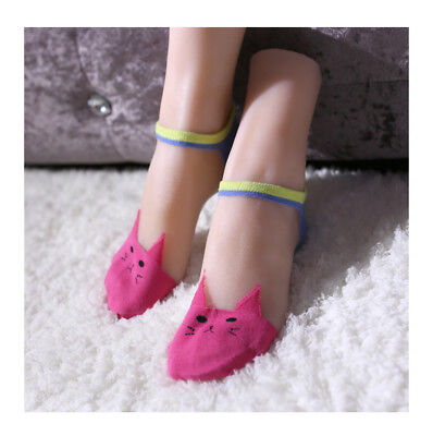 One Pair Little Girls Mannequin Foot Silicone Lifelike Shoes And Socks Display