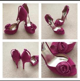 Pink DUNE Heels size 6