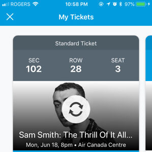 LAST MIN. SAM SMITH CONCERT TICKET @ THE ACC MON JUNE 18th @ 8pm