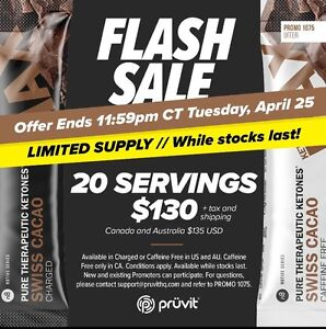 Pruvit swiss cacao! Today only!!