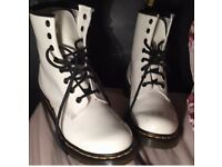 White Doc Martins, size 5, only worn once