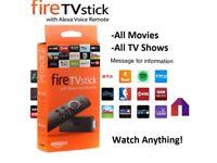 Amazon Firestick and fire tv box
