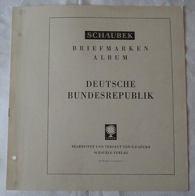 SCHAUBEK - VORDRUCKE Bund 1949-1980 ohne TASCHEN