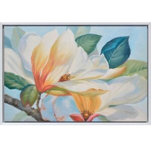 Magnolia Flower Shadow Framed Painting Print Canvas Floral Wall Art Camp Hill Brisbane South East Preview