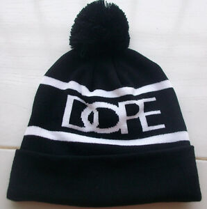 White and Black Men's Hip-Hop Dope Beanie Autumn Winter knitting Wool Hat