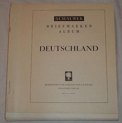 SCHAUBEK - VORDRUCKE BAZ/Bund 1945-1981 ohne TASCHEN