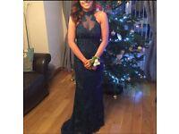 Amazing petrol blue formal dress, size 8-10!