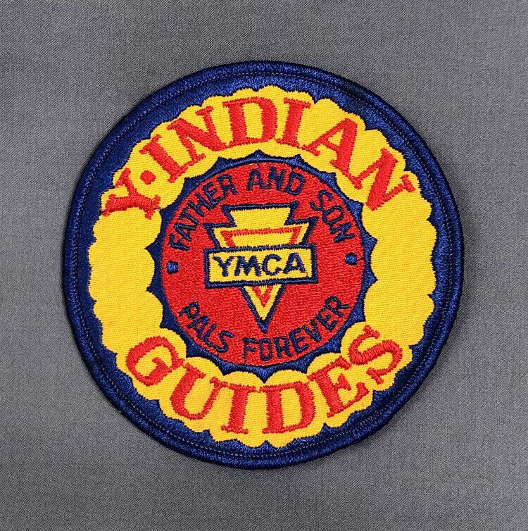 Vintage 4 inch  YMCA  Y Indian Guides Patch Father and Son Pals Forever
