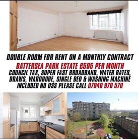 Double Bedroom Battersea Park Estate