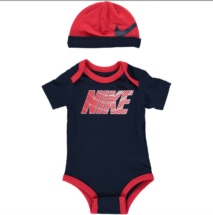 03ae7f2a0 Nike Navy & Red Bodysuit & Hat Outfit Set 0-3 Months | in Mitcham ...