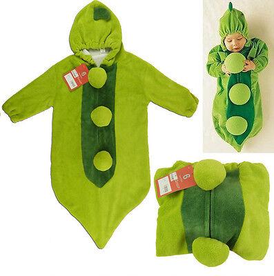 Baby Schalfsack Grean Erbse in Pod Jungen Mädchen - Erbse Halloween Kostüm
