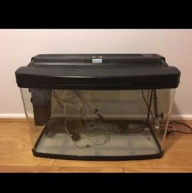 120ltr curved edge fish tank