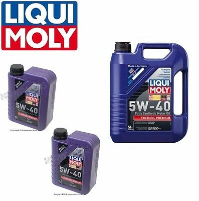 7 liter liqui moly premium 5w40 synthetic engine motor oil. Black Bedroom Furniture Sets. Home Design Ideas