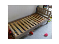 IKEA MYGGA Bed frame with slatted bed base Grey-brown 70x160 cm child's bed