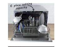 Table top small compact freestanding dishwasher barely used