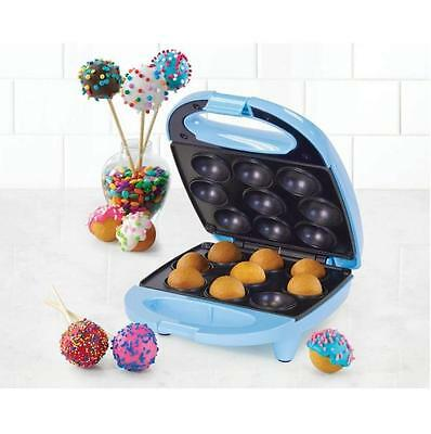 Nostalgia Cpb400   Mini Cake Pop Maker Donut Hole Bakery Machine Blue   New