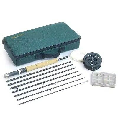 Crystal River Travel Rod - (2 KITS NEW) Crystal River Fly Fishing TRAVEL REEL & 8' ROD PLUS, Line, Leader