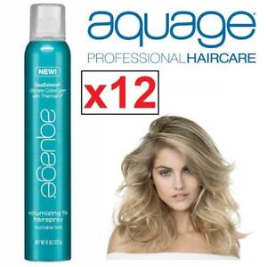 NEW 12 AQUAGE VOLUMIZING HAIR SPRAY 200170567 SEAEXTEND ULTIMATE COLORCARE W/ THERMAL-V FIX HAIRSPRAY 227g