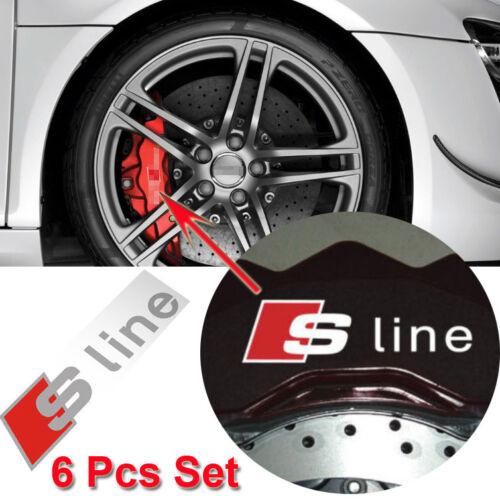 4 Pcs Alloy Wheel Black Quattro Decals Stickers Emblems Universal Fits All Model