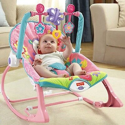 Fisher Price NEWBORN-TO-TODDLER PORTABLE ROCKER BUTTERFLY